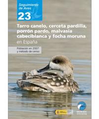 Tarro canelo, cerceta pardilla, porrón pardo, malvasía cabeciblanca y focha moruna en España